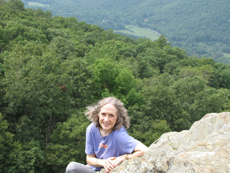 It Was a Bit Windy on the Rock Ledge But Absolute Fun for Sure - Ravens Roost - Blue Ridge Parkway  9-3-10