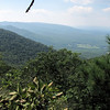 Shenandoah Valley View from Greenstone Overlook Trail - Milepost 9 Blue Ridge Parkway  9-3-10