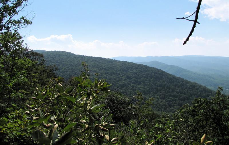 Far Views from Greenstone Overlook Trail - Milepost 9 Blue Ridge Parkway  9-3-10