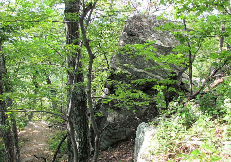 Awesome Rock Formations Along Greenstone Overlook Trail - Milepost 9 Blue Ridge Parkway  9-3-10