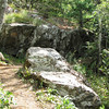 Rock Formations Everywhere Along Greenstone Overlook Trail - Milepost 9 Blue Ridge Parkway  9-3-10