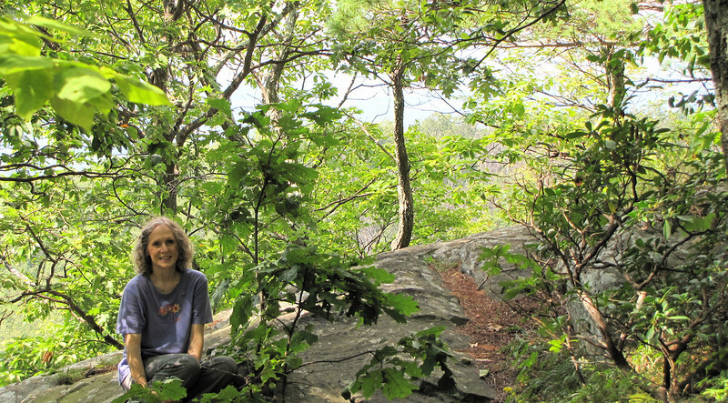Donna on Rocks - Greenstone Overlook Trail - Milepost 9 Blue Ridge Parkway  9-3-10
