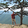 Ben at Ravens Roost - Tree Growing Out of Rock - Blue Ridge Parkway  9-3-10