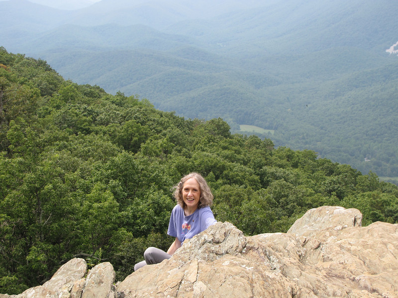 One of My New Experiences - Climbing Down a Cliff Just a Bit For The Adventure - Ravens Roost - Blue Ridge Parkway  9-3-10