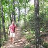 Ben on the Greenstone Overlook Trail - Milepost 9 Blue Ridge Parkway  9-3-10