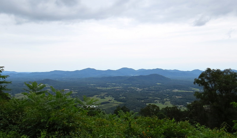 Blue Ridge Parkway Overlook on Rockfish Valley (Nelson County), Virginia