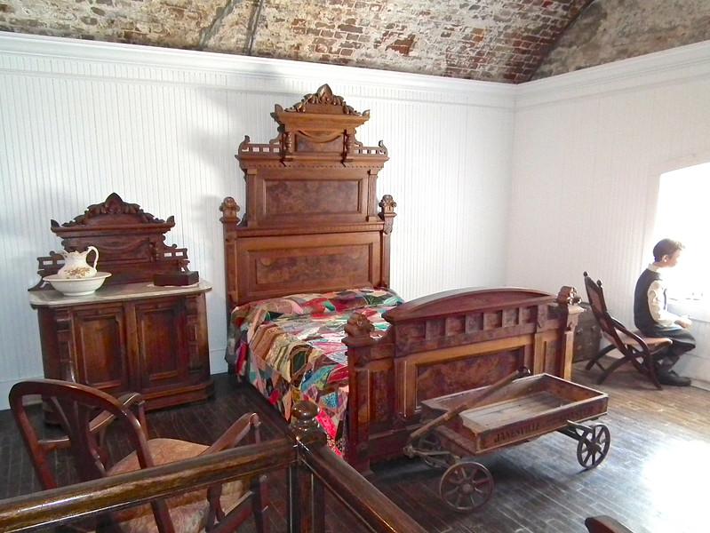 Jefferson Davis' Bedroom in Carroll Hall - Casemate Museum, Fort Monroe - Hampton, VA