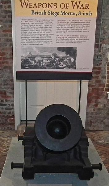 British Siege Mortar, 8 Inch - Casemate Museum, Fort Monroe - Hampton, VA