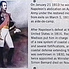 Signage: Brigadier General Simon Bernard - Casemate Museum, Fort Monroe - Hampton, VA<br /> Born in Dolke, France, on April 22, 1779, he fought during the Napoleonic Wars and in 1805 was recognized by Napolean for the intelligence he collected that was used in the defeat of the Austrians at the Battle of Austerlitz. On January 21, 1813, he was made aide-de-camp to the emperor.  After Napoleans abdication on April 11, 1814, Bernard was allowed to remain in the Army under the restored monarch, Louis the 18th.  But when Napoleon returned from exile on March 1, 1815, he transferred his allegiance and again served him as aide-de-camp. After Napoleon's defeat at Waterloo, Bernard received permission to go to the United States in 1816. Recognizing his talents as an engineer, President James Madison put him in charge of a new board of officers to oversee the construction of a new system of coastal defenses.  Bernard personally designed Fort Monroe and several fortifications, and under his direction the board created a network of coastal defense extending from Maine to Louisiana. When King Charles the 10th was overthrown in 1830, he was able to return to his native country. He was twice appointed as Minister of War and died on November 5, 1839 in Paris.