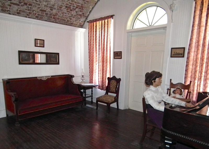 Jefferson Davis' Quarters in Carroll Hall with Wife - Casemate Museum, Fort Monroe - Hampton, VA