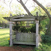 "Bench with Pergola Felt Like a Secret Garden to Randal - Chesterfield Arboretum, Chesterfield, VA  4-10-11<br /> Pergola and Bench Contributed by The Las Gaviotas Garden Club.  ""Las Gaviotas"" is Spanish for ""The Gulls"""