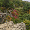Views from Raven's Roost - Red Color is Virginia Creeper in Fall