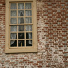 A window on a historical home in Colonial National Historic Park in Virgina.