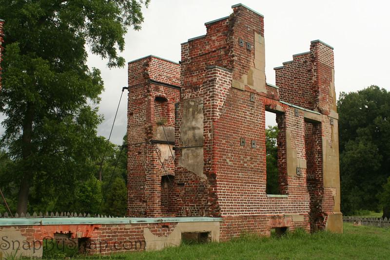 Ruins in Jamestown at Colonial National Historic Park in Virgina.