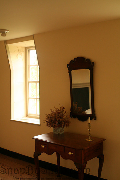 The interior of a historical home in Colonial National Historic Park in Virgina.