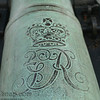 A British cannon bearing the Royal seal in Colonial National Historic Park in Virgina.
