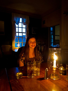 King's Arms Tavern at Colonial Williamsburg - The Dining Areas of the 18th century are lit only by candles.  George Washington and Thomas Jefferson have reportedly eaten here.