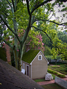 View from Dormer at David Mourton House Where we Stayed in Colonial Williamsburg