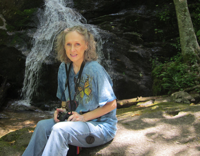 Donna at Lower Level Waterfall - Crabtree Falls, VA