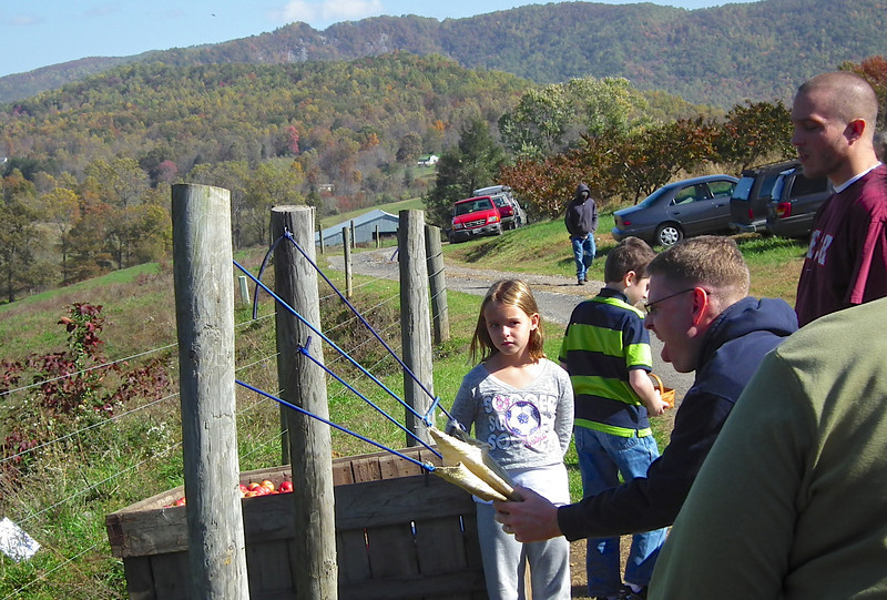 The Apple Sling Shot - Drumheller's Apple Harvest Festival - Lovingston, VA  10-20-12