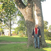 Randal at Huge Black Walnut Tree - The Exchange Hotel Civil War Museum - Gordonsville, VA  9-22-12<br /> Comment below says that this tree dates to late 1800's.  My grandfather was born in this town where his grandparents lived.  He may have played nearby.