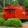 Caboose at N&W Train Station - Farmville, VA<br /> Notice the air conditioner installed.