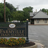 Historic Farmville Train Station<br /> Farmville, Virginia wasn't always destined to become a railroad town.  When initially surveyed by the South Side Railroad in the 1840's, the company intended to utilize a right of way that passed to the south of Farmville.  However a $100,000 offer by the community swayed the railroad to lay their tracks through town.  This decision also resulted in the construction of a large bridge over the Appomattox River east of Farmville.  Known as High Bridge, the structure was considered one of the largest in the world when completed in 1852.