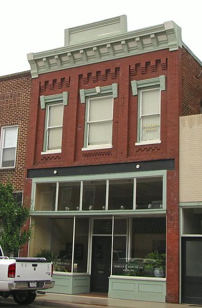 214 N. Main Street - Farmville, VA<br /> Late Victorian commercial structure with predominant Italianate characteristics.