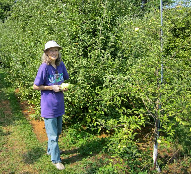 Happy Donna - Outside Living Life - Fruit Hill Orchard, Palmyra, VA