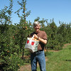 Our Half Bushel of Gala Apples with My Hunk Carrying the Bag