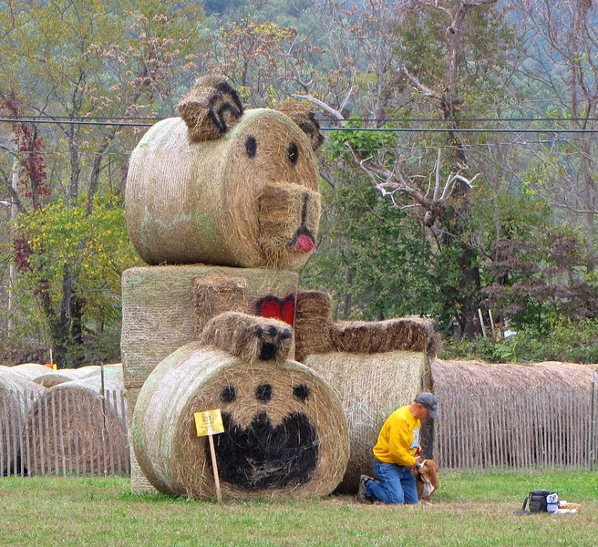 Fun with Hay Bales - Graves Mountain Apple Harvest Festival - 10/19/13