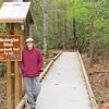 Donna at Beginning of Washington Ditch Boardwalk Trail - Great Dismal Swamp NWR, Suffolk, VA  4-9-11