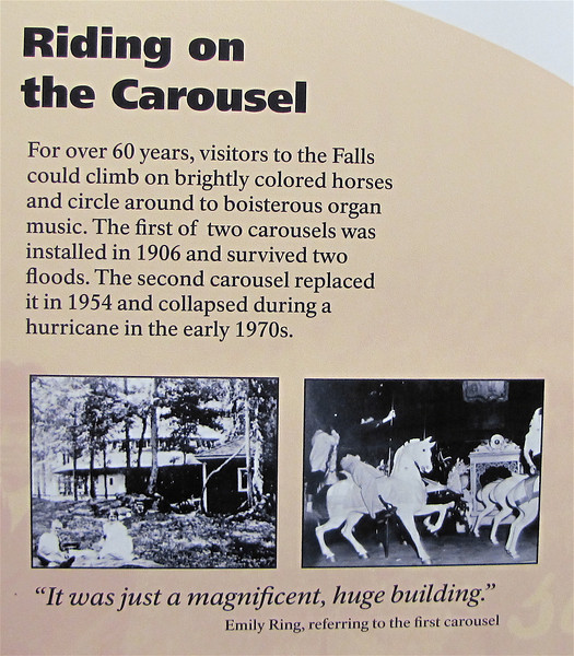 Signage About Previous Carousel - Great Falls National Park - McLean, VA  10-1-10