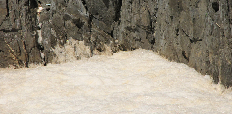 Foamy Gunky Area Off Side to the Falls - Chemical Runoff? - Great Falls National Park - McLean, VA  10-1-10
