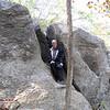 Randal Sitting in Pothole of a Rock - Great Falls National Park - McLean, VA  10-1-10
