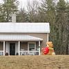 I Love You Bear at House Along the Road
