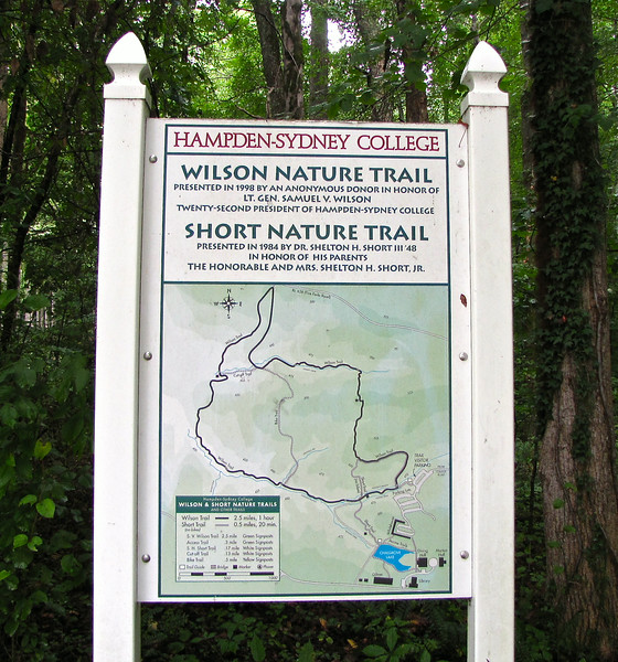 Signage at Wilson Nature Trail