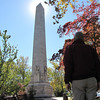 Randal Looking at Monument - Historic Jamestown National Park, VA  10-22-10<br />  ~~ The Tercentenary Monument commemorates Jamestown's 300th anniversary and was dedicated in 1907 at the same time as the newly constructed Memorial Church.