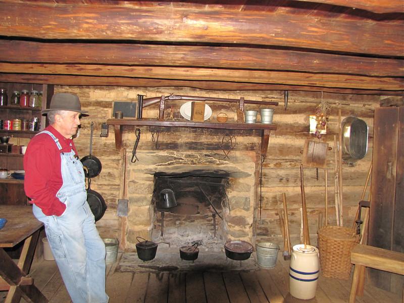 Interior of Cabin - Humpback Rocks Homestead - Blue Ridge Parkway, Virginia