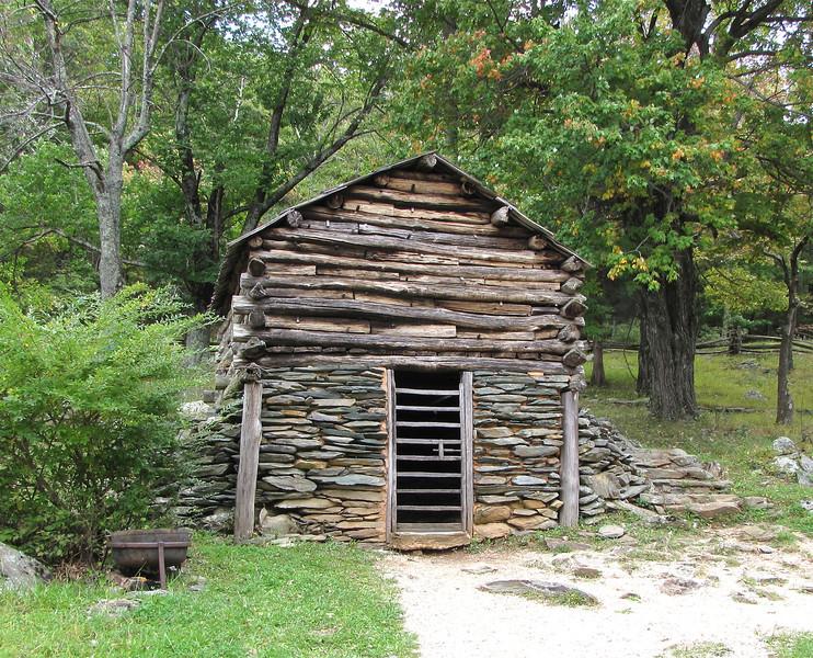 Root Cellar and Meat Storage - Humpback Rocks Homestead - Blue Ridge Parkway, Virginia