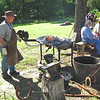 Blacksmithing - Fall Farm Fest at Humpback Rocks Homestead on the Blue Ridge Parkway  9/15/12