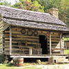 Closeup View of Front of Humpback Rocks Homestead - Blue Ridge Parkway, Virginia