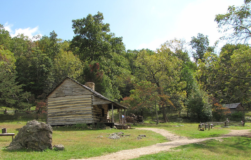 View of the Cabin - Humpback Rocks Homestead - Blue Ridge Parkway, Virginia