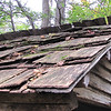 Closeup of Roof on Spring House - Humpback Rocks Homestead - Blue Ridge Parkway, Virginia