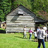 Side View of the Cabin - Fall Farm Fest at Humpback Rocks Homestead on the Blue Ridge Parkway  9/15/12<br /> The chicken house is in the far corner.