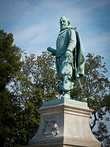 Statue of John Smith at Jamestown Settlement