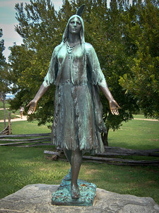 Statue of Pochahontas at Jamestown Settlement
