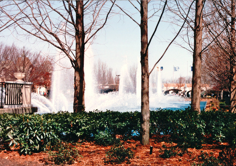 Entrance to King's Dominion - Doswell, VA  3-28-92