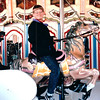 Ben on Merry-Go-Round - King's Dominion - Doswell, VA  3-28-92<br /> Our traditional favorite ride.