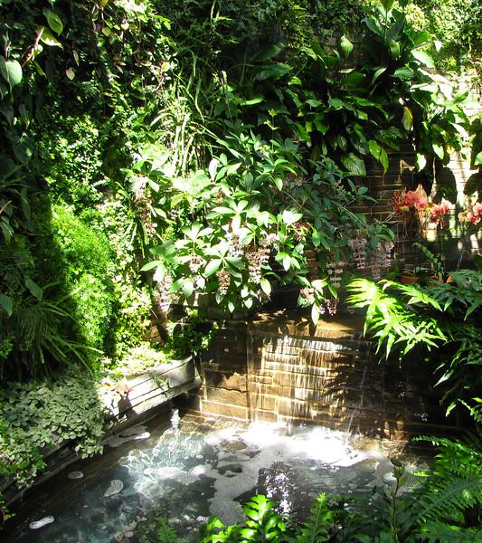 Waterfall in Conservatory Garden - Lewis Ginter Botanical Gardens - Richmond, VA